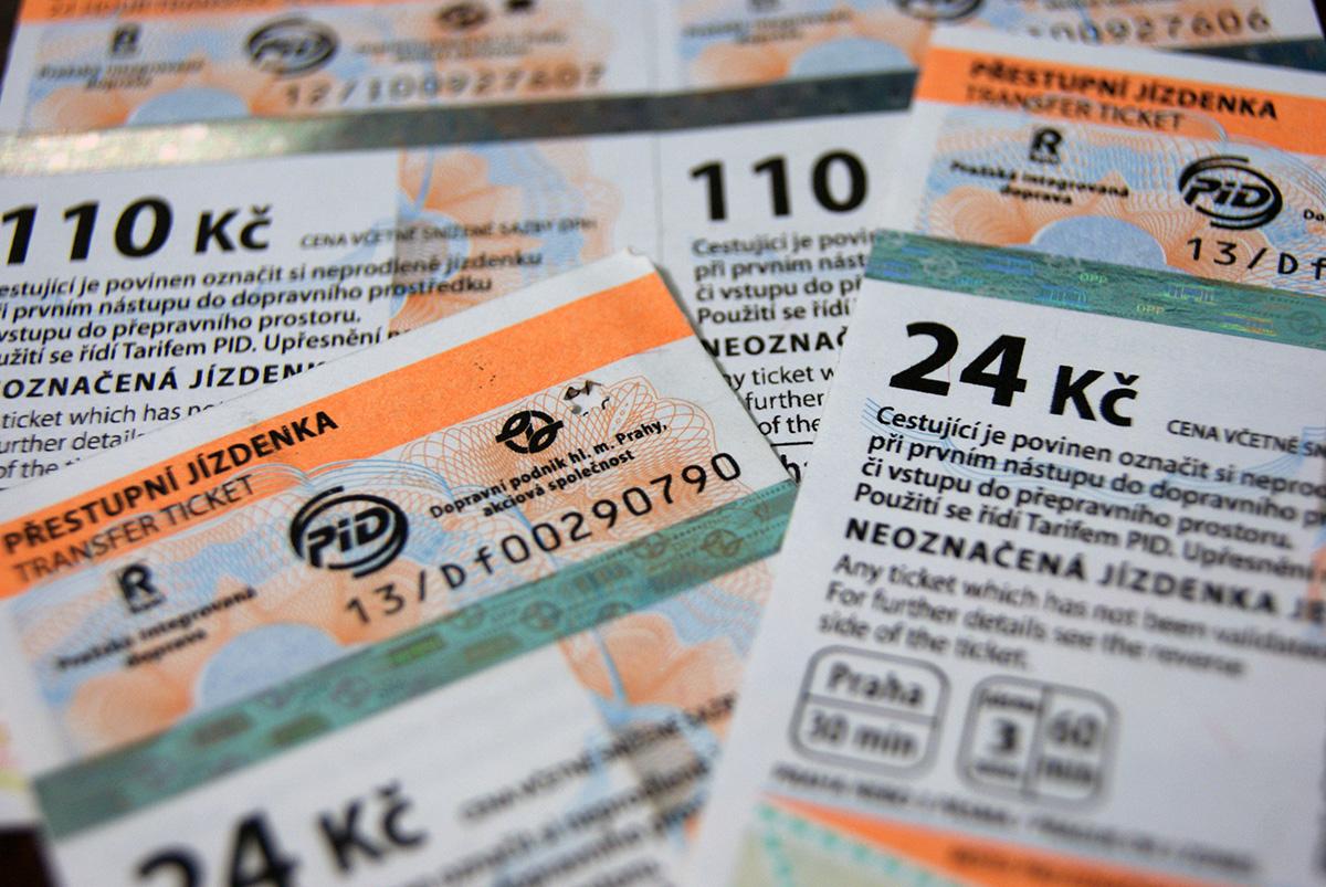 билет на общественный транспорт в Праге