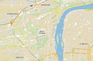 Мала Страна на карте