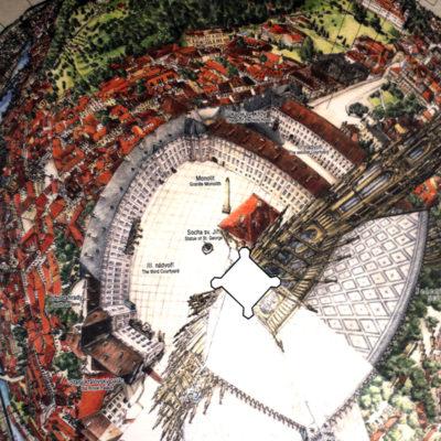Вид с обзорной башни собора св. Вита